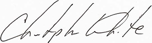 Christopher White signature
