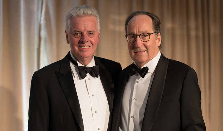 Alan W. Cramb, Illinois Tech president, and Michael P. Galvin